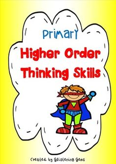 This pack includes 25 bright and engaging task cards  promote students higher order thinking skills. The cards are based on Bloom's Taxonomy, 6 thinking skills and Debono's thinking hats. Included are vibrant coloured  superhero cliparts to capture student's attention and to get them thinking about characters.