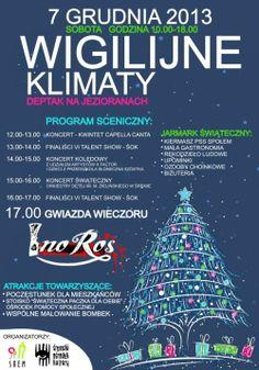 """Zapraszamy na imprezę plenerową dla mieszkańców Śremu pod tytułem """"Wigilijne Klimaty"""", która odbędzie się 7 grudnia 2013r. na deptaku na Jezioranach. więcej: http://www.naszsrem.pl/wydarzenie/wigilijne-klimaty/"""