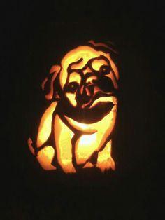 Pug Pumpkin carving