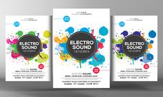 Electro Sound Flyer Template by Business Templates on Creative Market