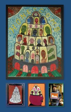 3 paintings by US artist King Orth Outsider Art, Art Brut, Paintings, Artists, People, Count, Kunst, Pictures, Paint