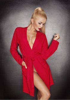 Женский вискозный халат Ines red