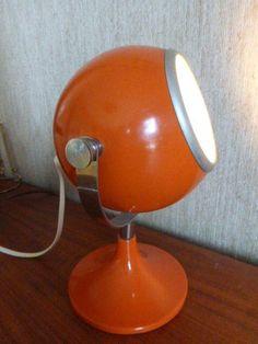 Häfftig Lampa Orange 70-tal RETRO Bordslampa på Tradera.com - Övriga
