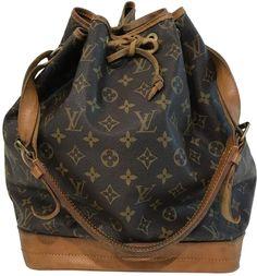 177d6f98a08a7 Louis Vuitton Vintage Noe Brown Cloth Handbag Vintage Louis Vuitton
