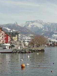 Vevey en hiver Switzerland