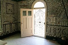 Open door to the Saint Anne Shell Chapel.
