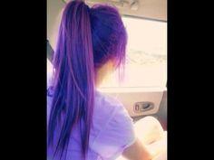 Hermoso cabello violeta