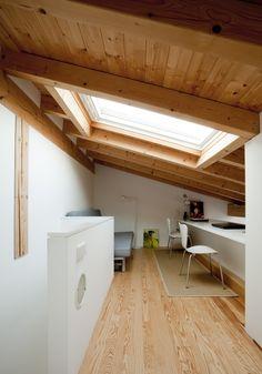 Vivere e lavorare in 40 mq #mansarda #attic #studio #homeoffice #renovation