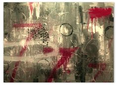 """Abstract painting by Philip Toalston entitled """"Letters From Home #3"""""""