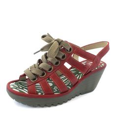 Look at this #zulilyfind! Red Yito Leather Sandal #zulilyfinds