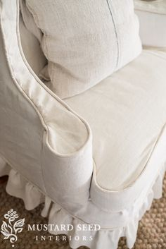 miss mustard seed | wing back slipcover