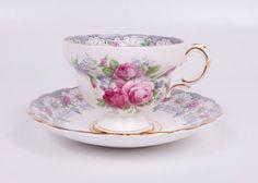 Vintage Rosina Teacup and Saucer Fine Bone