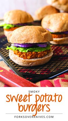 Smoky Sweet Potato White Bean Vegan Burger Recipe