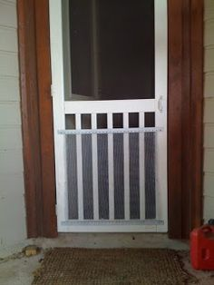 Screen Door Grille, Protective, Aluminum, Decorative, new