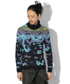 ANREALAGE(アンリアレイジ)のBODY THERMOGRAPH TURTLE KNIT □(ニット・セーター)|詳細画像