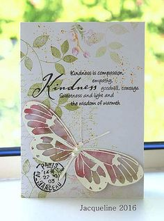 Kindness | I was inspired by Virginia with this card. The bu… | Flickr