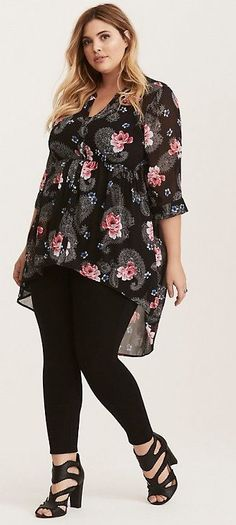 Plus Size Chiffon Top