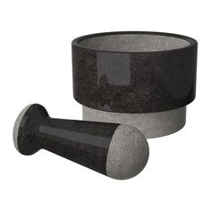 IKEA - ÄDELSTEN Pestle and mortar marble black