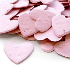 Heart Shaped Plantable Seed Confetti in Pink
