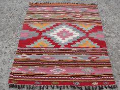 VINTAGE tapis turc Kilim tapis, tapis Kilim tissé à la main, Antique tapis Kilim, Kilim décoratif, laine naturelle 47 « X 62 » (120 x 157 CM)