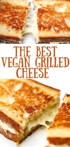 Vegan Grilled Cheese with Cheese That Melts! A vegan grilled cheese sandwich made with homemade vegan cheese that melts! Gluten-free, soy-free, and nut-free, yet still creamy and delicious! Best vegan sandwich ever! Vegan Sandwich Recipes, Vegan Cheese Recipes, Vegan Foods, Vegan Dishes, Vegan Sandwiches, Grilled Cheese Recipes Easy, Best Grilled Cheese, Grilled Cheeses, Grilled Sandwich