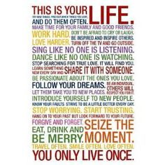 This is your life #poster
