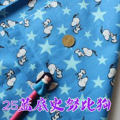snoopy dog, cotton emerizing cloth clothes baby cotton cloth fabric width:110cm  Sold by the yard, Free Shipping 2 yards/ lot $8,86