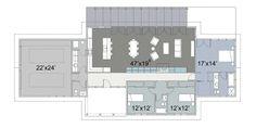 Ranch Style House Plan - 3 Beds 2.5 Baths 2254 Sq/Ft Plan #445-1 Floor Plan - Main Floor Plan - Houseplans.com