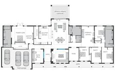I'm loving the butlers pantry behind the U-shaped kitchen. No 'through traffic' - perfect. Bronte Farmhouse Grand Manor acreage house plans
