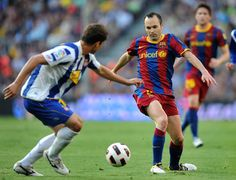 Andres Iniesta of Spain and FC Barcelona.