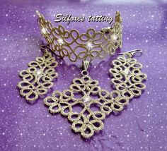 Tatting Jewelry, Needle Tatting, Bracelets, Crochet Earrings, Gems, Elegant, Pendant, Accessories, Facebook