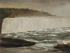 """Niagara Falls,"" Lockwood De Forest, ca. 1877, oil on paper laid to canvas, 11.25 x 14.25"", private collection."