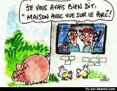 Maison avec vue sur le porc ! -