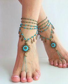 Fairy BAREFOOT SANDALS cadeau voor haar hippie bruiloft door FiArt