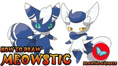 Learn How To Draw Meowstic Pokemon ** Leave the comments for your request about the news lesson! Please help our channel grow by giving LIKES, sharing with f. Pokemon Ash Greninja, Draw Pokemon, Pokemon Charmander, Pokemon Sun, Pokemon Cards, Drawing Animals, Animal Drawings, Drawing Tutorials, Art Tutorials