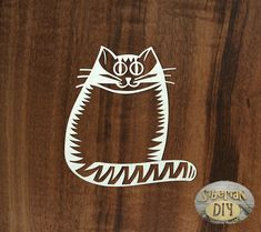 "Cardboard for scrapbooking ""Tabby cat"" by SiberianDIYcraftsArt on Etsy"
