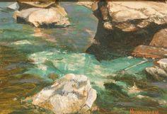 """Martin Buckingham, """"Rock pool"""", Oil on board, 6.4"""" x 9.2"""" (16 by 23cm), 2006, £480"""