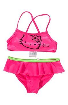 Super seje Hello Kitty Bikini Cerise Grøn Hello Kitty Hello Kitty til Børn & teenager til hverdag og til fest