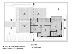 First Floor Plan (Planta do pavimento superior) (De Tony Santos Arquitetura)