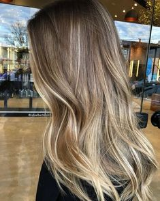 Dirty Blonde Balayage On Black Hair Dark Blonde Balayage, Golden Blonde Hair, Balayage Hair Blonde, Brown Blonde Hair, Cool Blonde Hair, Golden Blonde Highlights, Light Brunette Hair, Honey Balayage, Honey Blonde Hair