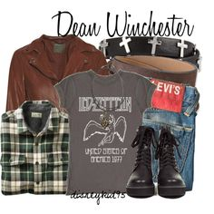 Designer Clothes, Shoes & Bags for Women Supernatural Inspired Outfits, Supernatural Fashion, Supernatural Quotes, Bad Girl Outfits, Teen Fashion Outfits, Cool Outfits, Dean Winchester Cosplay, 90s Fashion Grunge, Fandom Fashion