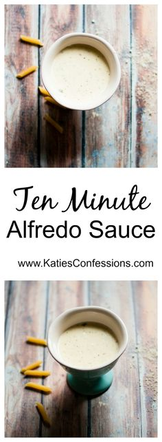 This creamy, rich and flavorful alfredo sauce can be made in ten minutes and best of all - it only has six ingredients!!
