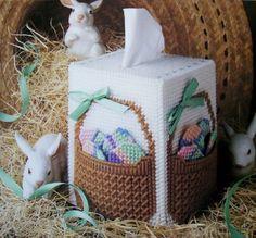 Easter Basket Boutique Plastic Canvas Pattern Boutique Tissue Box Cover | eBay