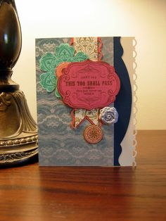Creative Flare Cards - From My Heart stamp set