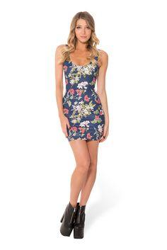 Gorgeous Garden Navy Dress (WW $85AUD / US $80USD) by Black Milk Clothing