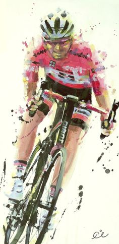 Tom Dumoulin Giro 2017 painting by Ijbema Marcel Kittel, Bicycle Illustration, Moto Cross, Bicycle Painting, Bike Poster, Bicycle Race, Cycling Art, Bike Art, Art For Art Sake