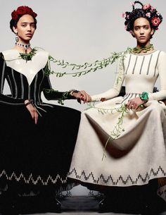 Frida inspired! Cora Emmanuel by Anthony Maule in Azzedine Alaïa for CR Fashion Book Issue #3