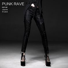 Cheap fashion pants, Buy Quality pants fashion directly from China woman tights pants Suppliers: New Punk Rave Fashion Gothic Casual Visual Kei Lacing Women Tights Pants
