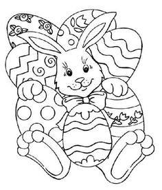 Easter basket colouring page, Easter colouring pages | Embroidery ...