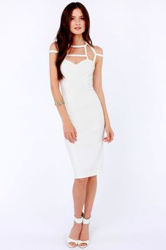 LULUS Exclusive Dream Cage-er Ivory Midi Dress at LuLus.com!